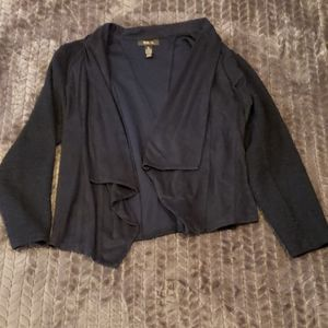 Style & Co. Navy open front cardigan
